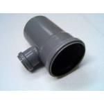 PVC T-idom 110/50/90° szennyvíz lefolyócsőhöz