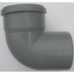 PVC idom, 110/90° könyök szennyvíz lefolyócsőhöz, 110mm csőhöz