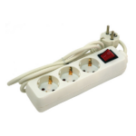 EXTOL CRAFT villamos elosztó, hosszabbító, 3 elosztó aljzattal, 1,5m kábellel (84720)