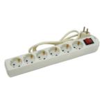 EXTOL CRAFT villamos elosztó, hosszabbító, 6 dugalj, 3m kábellel (84727)