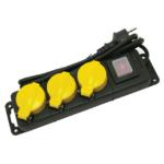 EXTOL CRAFT villamos elosztó, hosszabbító, kültéri, 3 dugalj, 1,5m kábel (84845)