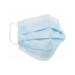 Sebészi maszk, szájmaszk, 3 rétegű, kék színű