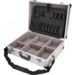 EXTOL CRAFT szerszámtáska, alumínium koffer, hordszíjjal, 460x330x155mm (9703)