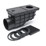 Kültéri víznyelő, oldalkifolyású 110mm