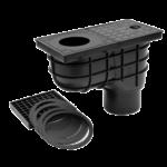 Kültéri víznyelő, eresz bekötéssel, 110mm