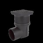 Kültéri víznyelő, öntöttvas ráccsal, 110mm vizszintes elfolyású