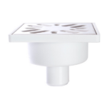 STYRON zuhanytálca szifon, alsókifolyású, rozsdamentes ráccsal, 32mm-es elfolyással (STY-509-RM)