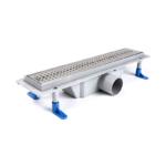 STYRON beltéri zuhanyfolyóka, 400x430mm, Basic rozsdamentes ráccsal (STY-B-40)