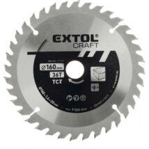 EXTOL CRAFT körfűrészlap, keményfémlapkás, 2,5 mm, 160×20mm