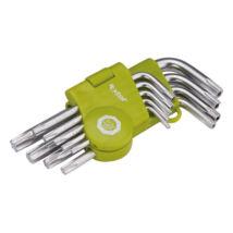 EXTOL CRAFT torx kulcs készlet, rövid, gömbfej