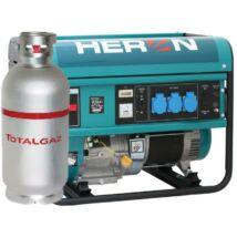 HERON EGM-55-48 AVR-1G benzin-gáz motoros áramfejlesztő, egyfázisú