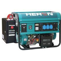 HERON EGM-55 AVR-1E benzinmotoros áramfejlesztő, egyfázisú, önindítóval