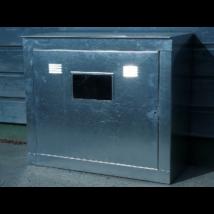 gázóra szekrény, fali