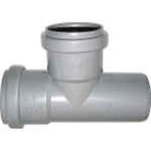 PVC T-idom 50/50/90° szennyvíz lefolyócsőhöz