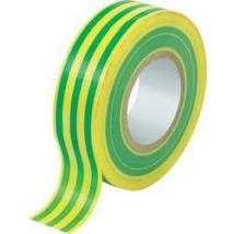 Szigetelőszalag, 20m, zöld-sárga