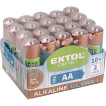EXTOL LIGHT alkáli elem 20db, AA, 1,5V