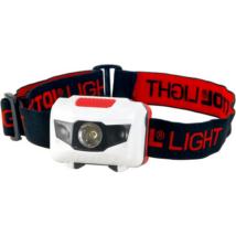 EXTOL LIGHT LED fejlámpa, 1W, fehér és két piros LED