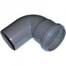 PVC idom, 32/90° könyök szennyvíz lefolyócsőhöz, 32mm csőhöz