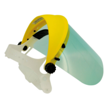 PC arcvédő pajzs, víztiszta plexis, védőfóliával szállítva