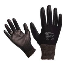 BUNTING BLACK kötött kesztyű, nylon, fekete, M-es méret