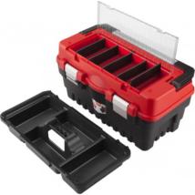 EXTOL PREMIUM szerszámosláda, műanyag, fémcsatos, tálcával, 595x289x328mm (8856082)