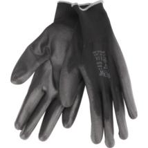 EXTOL PREMIUM kötött polieszter kesztyű, fekete, L-es méret