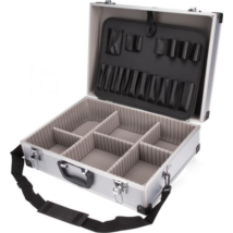EXTOL CRAFT szerszámtáska, alumínium koffer, hordszíjjal