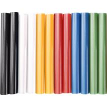EXTOL CRAFT ragasztóstift készlet, 12db, színes, 11mm