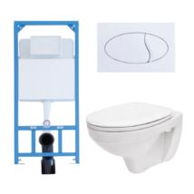 Egységcsomag Niagara Fix falon belüli WC tartály, nyomólap, lecsapódásgátlós ülőke (E-039