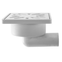 STYRON zuhanytálca szifon, oldalkifolyású, 32mm, rozsdamentes fém ráccsal