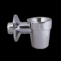 STYRON bojler csepegtető tölcsér, kettős bűzelzáróval, krómozott, 32 mm-es