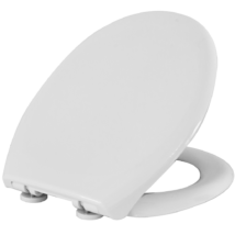 STYRON WC ülőke, lecsapódásgátlós, fehér, fém zsanérral, Duna