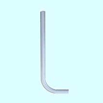 32-es WC öblítő cső, rövid, fehér (30x1,5mm)