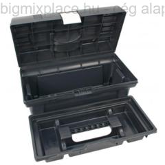 Szerszámosláda, műanyag, alucsatos, tálcával, 415x220x200mm (3385069)