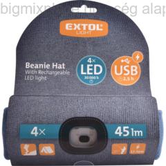 tt sapka, kivehető LED homloklámpával, több színben(43191)
