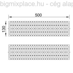 STYRON, műanyag kültéri folyókarács (STY-900-4) szerkezeti ábra