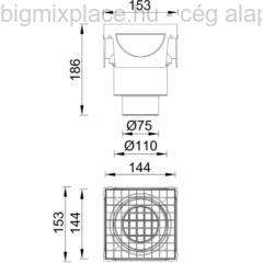 STYRON T-idom folyókához, szerkezeti ábra (STY-900-T)