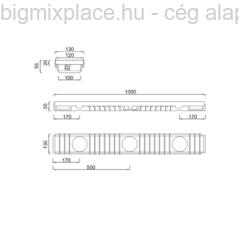 STYRON alacsony kültéri folyóka, szerkezeti ábra (STY-904)