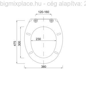 WC ülőke, TOPÁZ, szerkezeti ábra