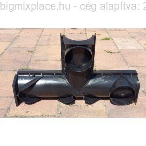 STYRON műanyag kültéri vízelvezető folyóka T-idom hátulja (STY-903-T)