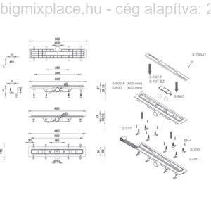 fekete zuhanyfolyóka szerkezeti ábra