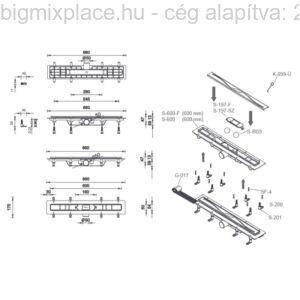 STYRON zuhanyfolyóka szerkezeti ábra