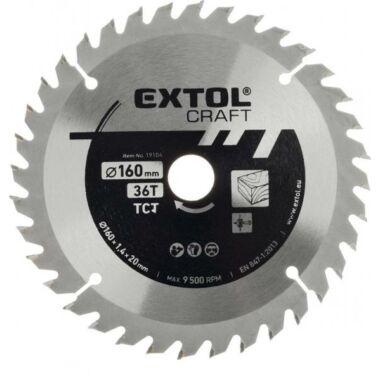 EXTOL CRAFT körfűrészlap, keményfémlapkás, 2,5 mm, 160x20mm