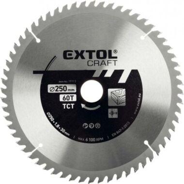EXTOL CRAFT körfűrészlap, keményfémlapkás, 2,7 mm lapkaszélesség