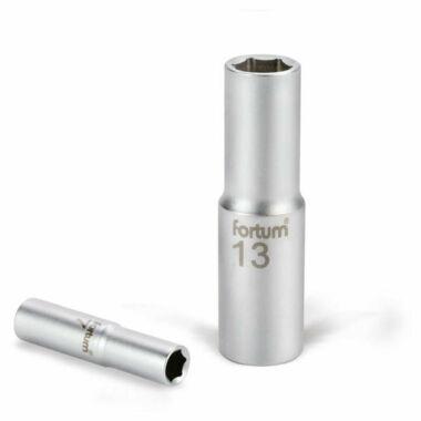 "FORTUM dugófej, hosszított, 1/2"", 61CrV5, 77mm hosszú"