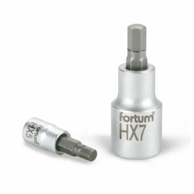 """FORTUM bitdugófej, imbusz,1/2"""", 61CrV5 S2, 55mm"""
