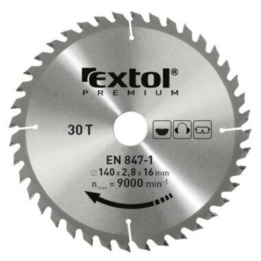 EXTOL PREMIUM körfűrészlap, keményfémlapkás, 2,6mm lapkaszél