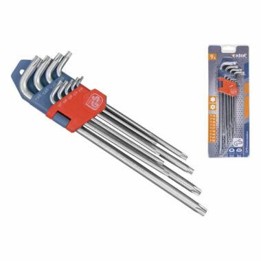 EXTOL PREMIUM torx kulcs készlet, 9 db, extra hosszú, bliszteren