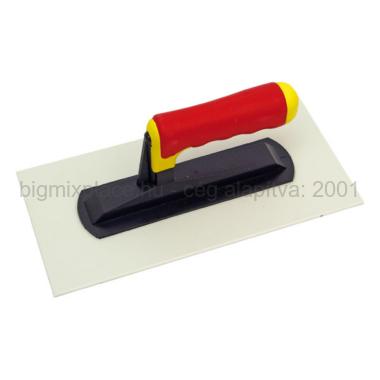 Műanyag glettelő, SOFT gumi nyél 14x28cm, 2mm