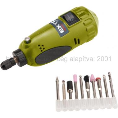 EXTOL CRAFT mini köszörű és fúrógép, tartozékokkal, sablonnal (404121)